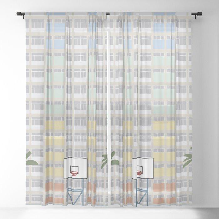 Hong Kong Choi Hung Estate, Wong Tai Sin District, Kowloon Basketball Court Sheer Curtain