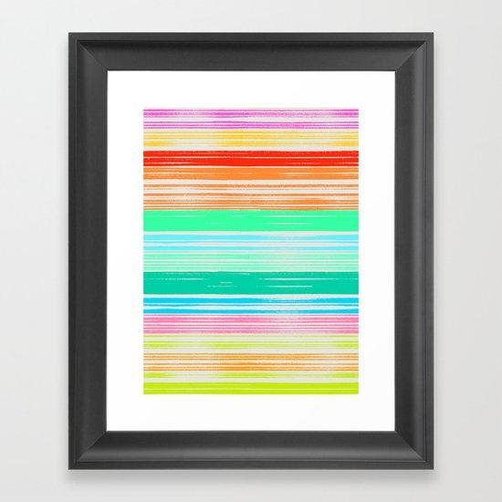 Waves_Multicolor2 Framed Art Print