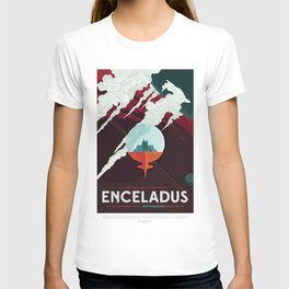 NASA Visions of the Future - Beautiful Southern Enceladus T-shirt