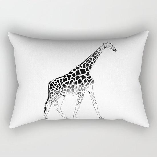 Lone Giraffe  Rectangular Pillow