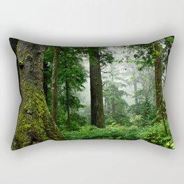 Light Fog in the Dense Forest Rectangular Pillow