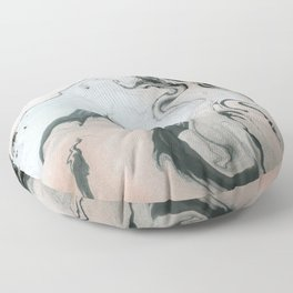 Abstract marble effect painting Floor Pillow