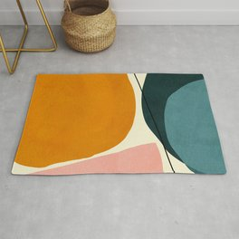 shapes geometric minimal painting abstract Rug