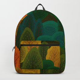 Stylized Autumn color trees pattern Backpack