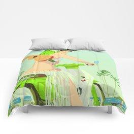 Ukulele Girl Comforters