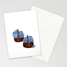 Two Baskets of Hydrangea Love Stationery Cards