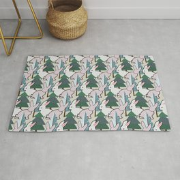 Bunnies and Trees 2 (Cute Buns) Rug