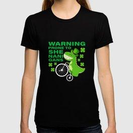 Warning Prone To Shenanigans St Patricks Day T-shirt