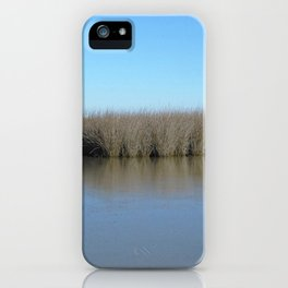 Watercolor Landscape, Janes Island 05, Maryland iPhone Case