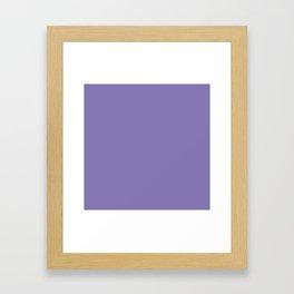 Dark Lavender / gray grape Framed Art Print