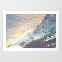 Sunset cloudy sky Art Print