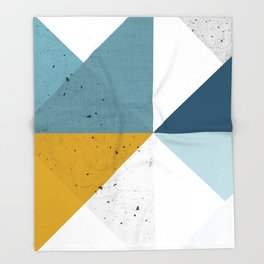 Modern Geometric 17 Throw Blanket