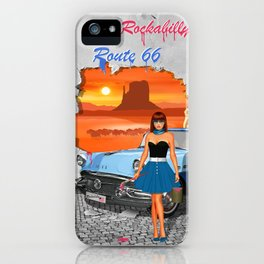 Rockabilly Street Art iPhone Case
