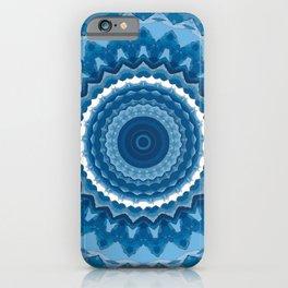 Blue mandala 2 iPhone Case