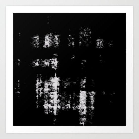 Black & White Abstract Series ~ 3 Art Print