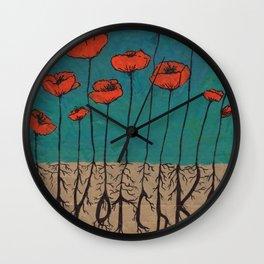 Devotchka Poppies Wall Clock