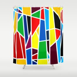 Geometric Shapes - bold and bright Shower Curtain