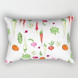 Veggie Party Pattern Rectangular Pillow