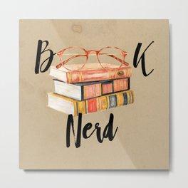 Book Nerd Metal Print
