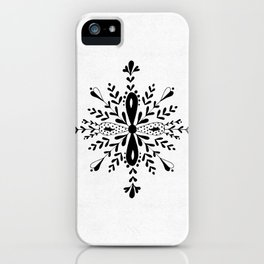 Winter in black and white - Snowflake iPhone Case
