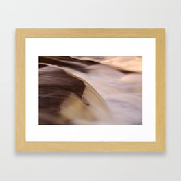 Swallow Falls Close-up Framed Art Print