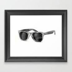 B&W Raybans - Drawing Framed Art Print