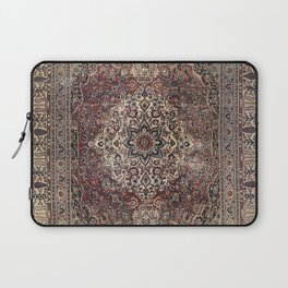Antique Persia Doroksh Old Century Authentic Dusty Dull Blue Gray Green Vintage Rug Pattern Laptop Sleeve