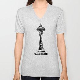 Seattle, Washington's Space Needle Unisex V-Neck