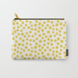 Yellow Polka Dots Carry-All Pouch