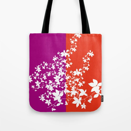 Climbing Flowers Tote Bag