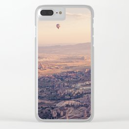 Sunrise Hot Air Balloon Flight Clear iPhone Case