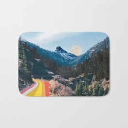 1960's Style Mountain Collage Bath Mat