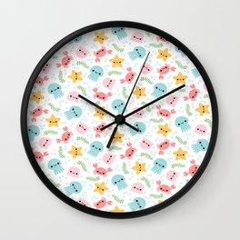 Happy Sea Creatures Wall Clock