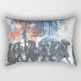 Rainy day in the city Rectangular Pillow