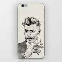 moustache iPhone & iPod Skins featuring Moustache by hectordanielvargas
