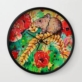 Field Mouse Wall Clock