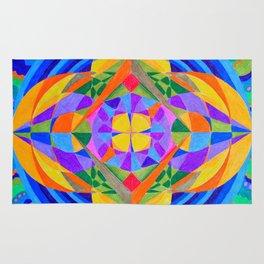 Geometric Meditation Mandala Rug