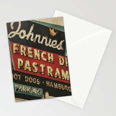 Johnnie's French Dip Pastrami Vintage/Retro Neon Sign Stationery Cards