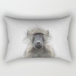 Baboon - Colorful Rectangular Pillow