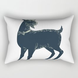 The Goat Wearing Bow Tie Scratchboard Rectangular Pillow