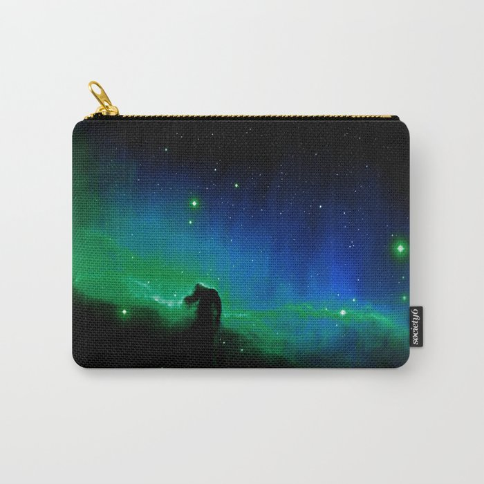Horsehead nEBula. Blue & Green Carry-All Pouch