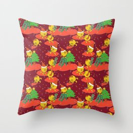 Christmas Party Throw Pillow