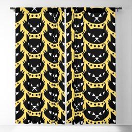 Mid Century Modern Cat Black Yellow Blackout Curtain
