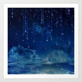 Falling stars I Art Print