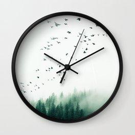 WOOD BIRDS Wall Clock