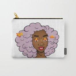 Lavender Edda • Black Girl Magic • Afrogirl Carry-All Pouch
