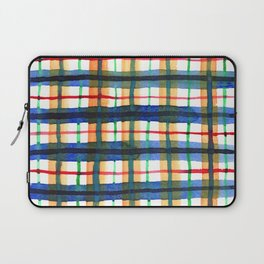Retro Watercolor Plaid Laptop Sleeve