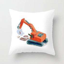 Croco Digger Throw Pillow