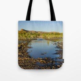 Pentecost River Crossing Tote Bag
