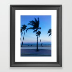 Palms in the Wind Framed Art Print